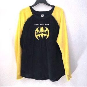 Batman Soft Plush Raglan Sleep Top
